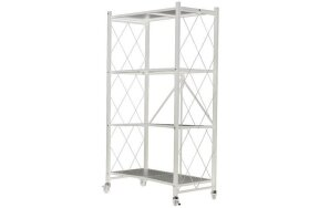 4 SHELF FOLDABLE STORAGE UNIT WHITE